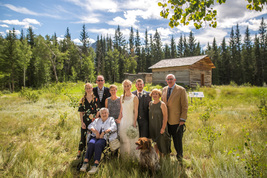 Family wedding in Jasper